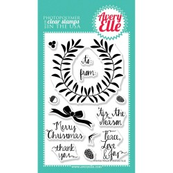 Avery Elle Winter Wreath stamp set