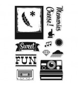 BasicGrey Hipster Cheese stamp set by Hero Arts