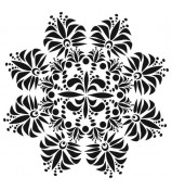 Crafter's Workshop Template Fleur de Lis Doily 6x6