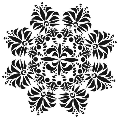 Crafters Workshop Template Fleur De Lis Doily 6x6