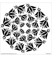 Crafter's Workshop Template Flying Bird Doily 6x6