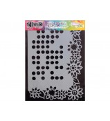 Dylusions Stencil Dotted Flower 9x12 by Crafters Workshop