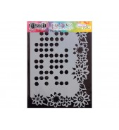 Dylusions Stencil Dotted Flower 9x12 by Crafters Workshop *