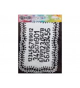 Dylusions Stencil Number Jumble 9x12 by Crafters Workshop