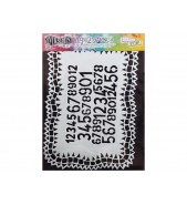Dylusions Stencil Number Jumble 9x12 by Crafters Workshop *