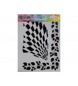 Dylusions Stencil Luscious Leaves 9x12 by Crafters Workshop