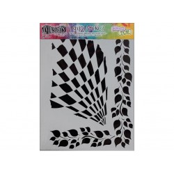 Dylusions Stencil Luscious Leaves 9x12 by Crafters Workshop *