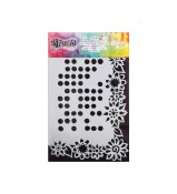 Dylusions Stencil Dotted Flowers 5x8 by Crafters Workshop