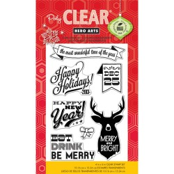 Hero Arts Deer Christmas stamp set