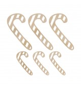 Kaisercraft Candy Canes Wood Flourishes