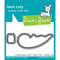 Lawn Fawn Year Five Otter die set