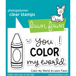 Lawn Fawn COLOR MY WORLD stamp set: