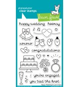 Lawn Fawn HAPPY WEDDING stamp set