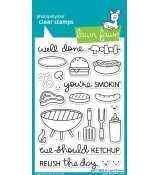 Lawn Fawn LET'S BBQ stamp set