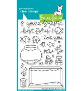 Lawn Fawn FINTASTIC FRIENDS stamp set