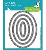 Lawn Fawn STITCHED OVALS SMALL stackable dies cuts