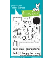 Lawn Fawn BEEP BOOP BIRTHDAY stamp set