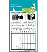 Lawn Fawn CHECK THIS OUT stamp set - DISCONTINUED
