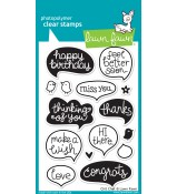 Lawn Fawn CHIT CHAT stamp set