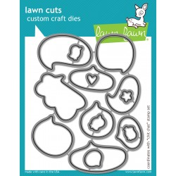 Lawn Fawn CHIT CHAT die set