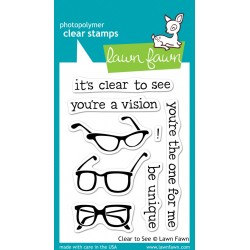 Lawn Fawn CLEAR TO SEE stamp set - DISCONTINUED