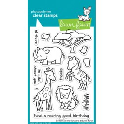 Lawn Fawn CRITTERS ON THE SAVANNA stamp set