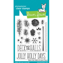 Lawn Fawn DECK THE HALLS stamp set