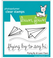 Lawn Fawn FLYING BY stamp set