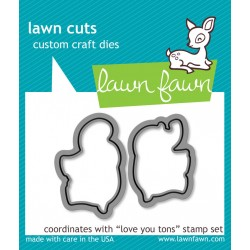 Lawn Fawn Love You Tons die set