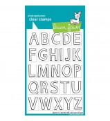 Lawn Fawn Quinn's Capital Uppercase ABCs stamp set