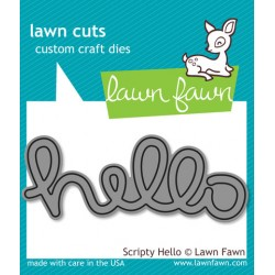 Lawn Fawn Scripty Hello die set