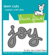 Lawn Fawn Scripty JOY die set