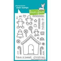 Lawn Fawn Sweet Christmas stamp set Gingerbread