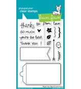 Lawn Fawn THANK YOU TAGS stamp set