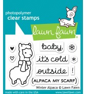 Lawn Fawn WINTER ALPACA stamp set
