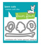 Lawn Fawn Winter Sparrow die set