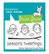 Lawn Fawn Winter Sparrow stamp set