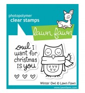 Lawn Fawn Winter Owl stamp set