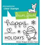 Lawn Fawn Winter Penguin stamp set