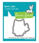 Lawn Fawn Winter Owl die set