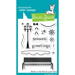 Lawn Fawn Winter in the Park stamp set