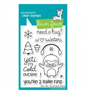Lawn Fawn Yeti, Set, Go stamp set