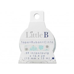 Little B WINTER SNOWFLAKES 15mm tape