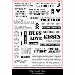 MFT First Class Friend stamp set