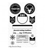MFT Die-namics Accent It Holiday Traditions stamp set by LLD