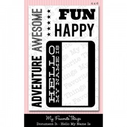 MFT Laina Lamb's Hello My Name Is stamp set