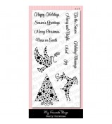 MFT Die-namics Starry Christmas stamp set by MPD
