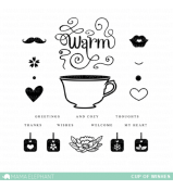 Mama Elephant CUP OF WISHES stamp set
