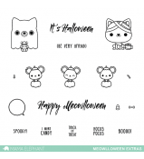 Mama Elephant MEOWLLOWEEN EXTRAS stamps
