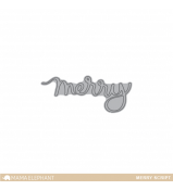Mama Elephant MERRY SCRIPT CREATIVE CUTS dies